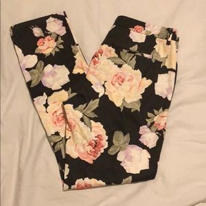 NWT Madewell floral straight leg pant Size 6